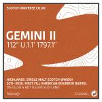 Gemini II - Highland Single Malt - 1st Fill Bourbon Barrel, 57,6 %, 0,7 Lt.