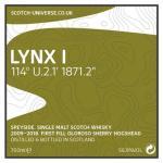 Lynx I - Speyside Single Malt - 1st fill Oloroso Sherry Hogshead, 56,9 %, 0,7 Lt.