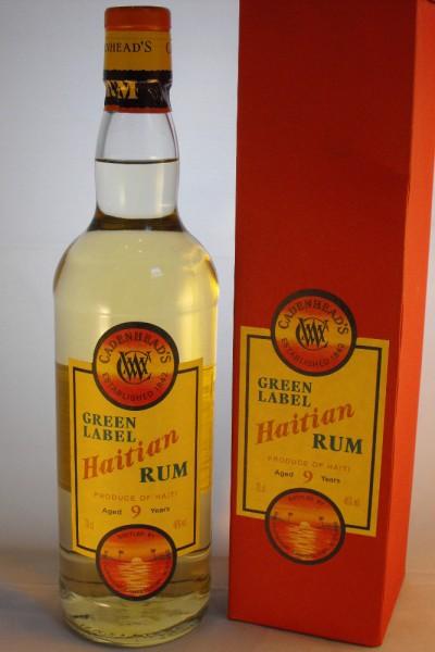 Green Label Haitian Rum 9y, Cadenhead, 46 % ABV, 0,7l