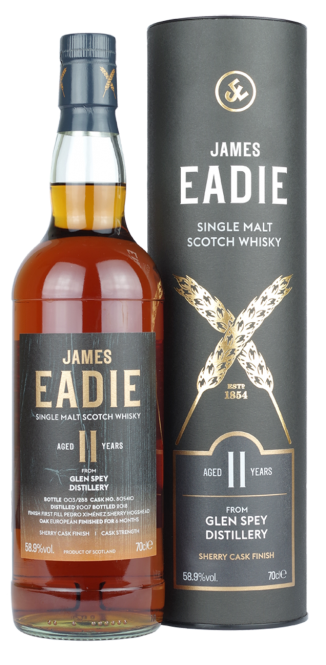 Glen Spey 2007, James Eadie, Single Cask, 11y, Cask 805410 – Pedro Ximénez Finish, 58,9%, 0,7l