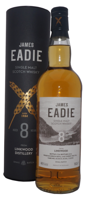 Linkwood 2008, James Eadie, Single Cask, Bourbon Refill and Sherry First Fill, 8y, 46%, 0,7l
