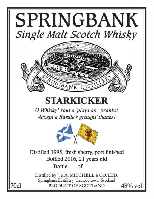 Springbank, Starkicker, 21y, fresh sherry hogshead, port finish, 48 % ABV, 0,7l